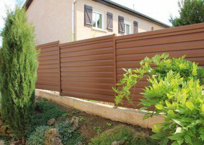 belle clôture brune alu